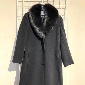 Bill Blass wool fur coat